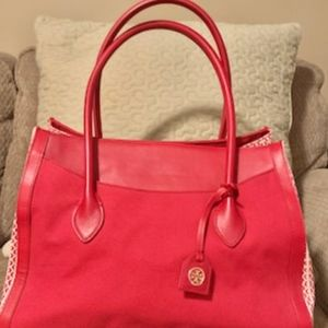 Tory Burch Red Canvas Tote bag